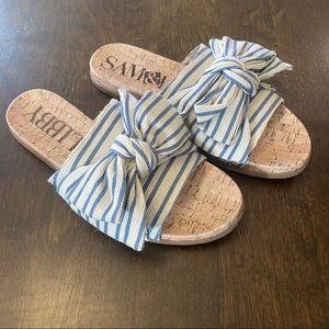 Sam & Libby Nautical Bow Slide Sandals
